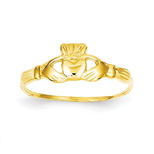 Baby and Children 14K Yellow Gold Claddagh Ring