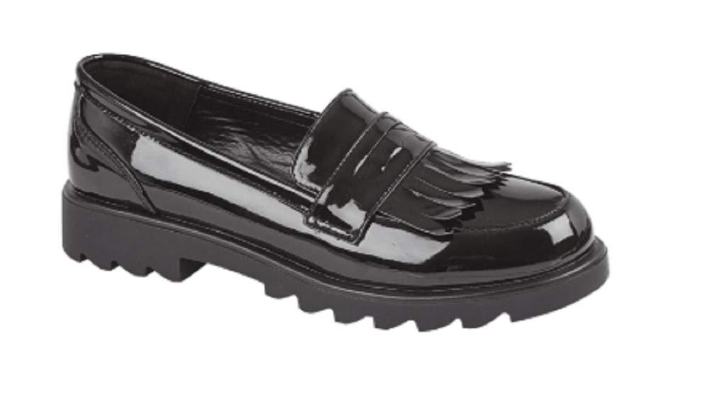 GladRags Girls Slip On Black Patent