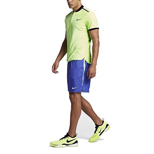 - Nike Court Dry Tennis Short (SM x 7, Paramount Blue/Ghost Green)