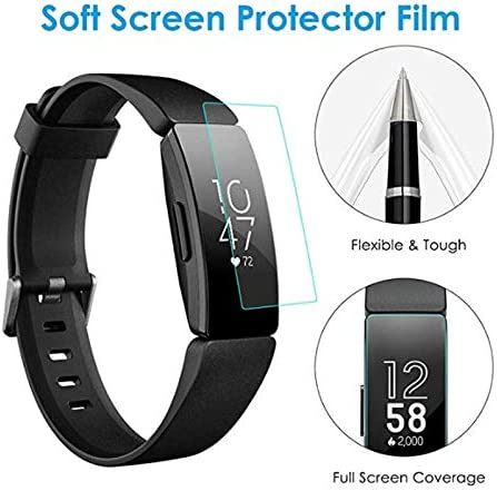 [3 Pack] Screen Protector for Fitbit Inspire/Inspire HR, Ultra Thin Flexible SoftProtector Film for fitbit encourage hr Smartwatch