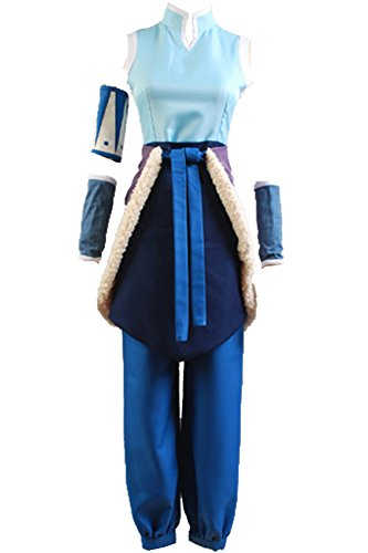 CosplaySky Avatar The Legend of Korra Costume Halloween Set Large]()
