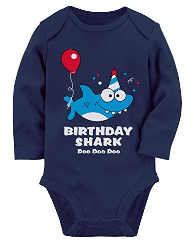 Baby Shark Doo doo doo First/2nd Birthday Shark Outfit Baby Long Sleeve Bodysuit