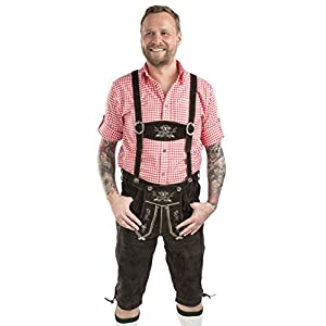 Men's Oktoberfest Lederhosen – Original German Knee Breeches Leather Trouser