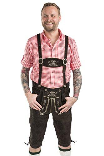 Men's Hopfen Oktoberfest Lederhosen Leather Trouser German Costume (33