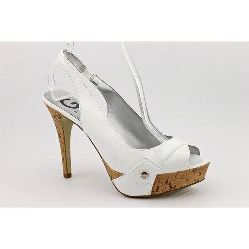 G By Guess Cabelle 2 Womens Size 9 White Platforms Heels Shoes
