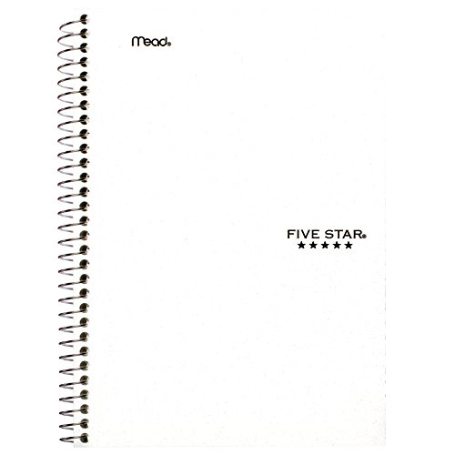 043100061809 - Five Star Wirebound Notebook, College Rule, 6 x 9-1/2, White, 100 Sheets/Pad (06180) carousel main 6