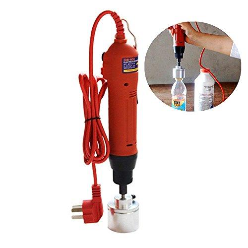 ELEOPTION Manual Bottle Capper Handheld Electric Bottle Capping Machine Cap Sealer Sealing Machine for Plastic Bottle Capp Diameter 10-20 mm, 20-30 mm, 30-40 mm, 40-50 mm, 220V
