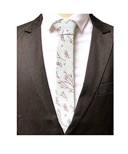 Men Kids Classic Plum flower Silk Ties Mint Dress Business Skinny Necktie Online