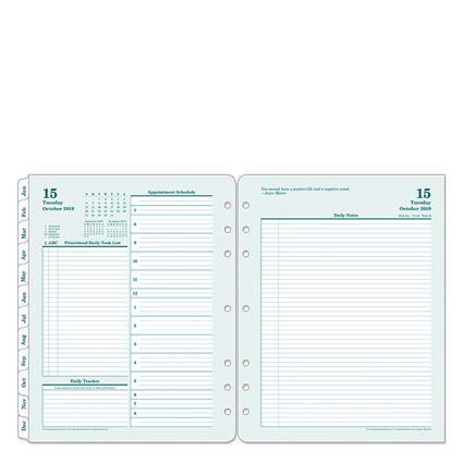 Monarch Original Daily Ring-Bound Planner - Oct 2019 - Sep 2020