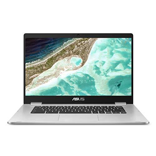 "ASUS Chromebook C523 15.6"" FHD NanoEdge, Intel Quad Core Celeron Processor, 4GB RAM, 64GB eMMC Storage, Silver Color, Optical Mouse Included, Chrome OS, C523NA-IH24T"