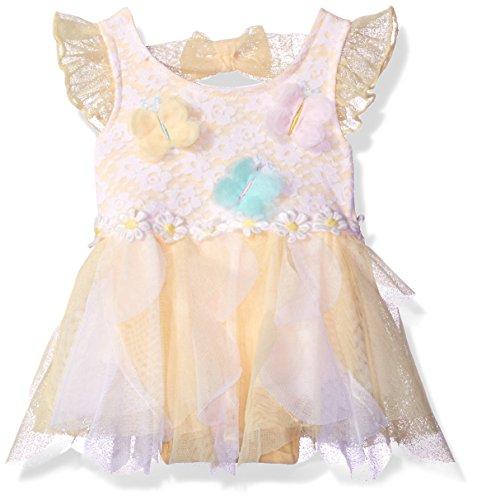 Little Lass Baby Girls' 1 Pc Fancy Tutu Creeper, Yellow, 9M