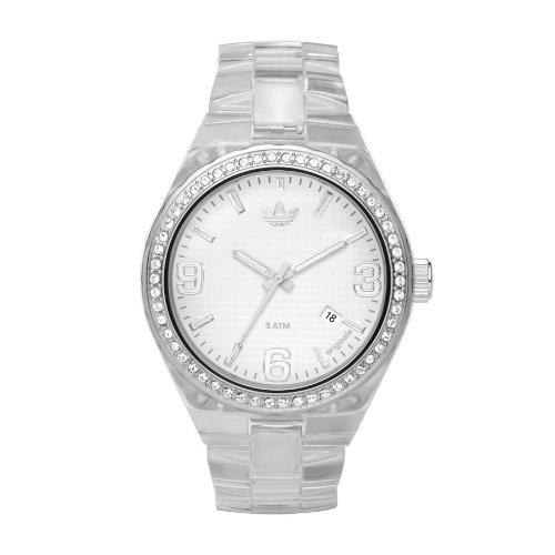 adidas Originals ADH2506 - Reloj analógico de cuarzo para mujer con correa de caucho, color blanco: Amazon.es: Relojes