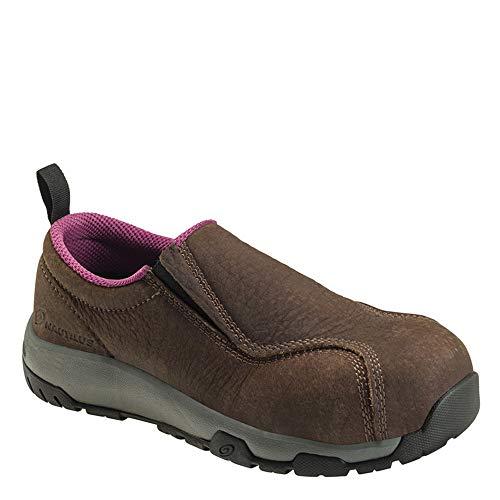 Nautilus 1647 Women's Slip-On Leather Slip Resistant ESD Work Shoe - Carbon Safety Toe