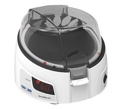 Oxford Small Digital Micro Centrifuge 8 X 1.5/2.0 mL Capacity, with 2 Adaptor for 0.4, 0.5, 0.2 mL, 6000rpm / 2000xG Speed, While