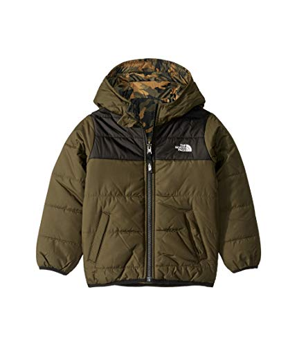 The North Face Toddler Boys' Reversible Perrito Jacket, New Taupe Green/TNF Black, 3T (Moondoggy Jacket)