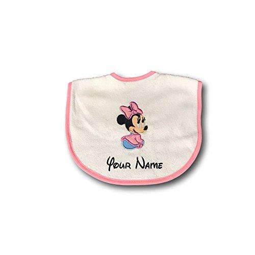 Personalized Birthday Bib (Personalized Disney Minnie Mouse Baby Bib)