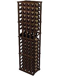 Designer 4 Column Display Wine Rack All Heart Redwood Dark Walnut Stain