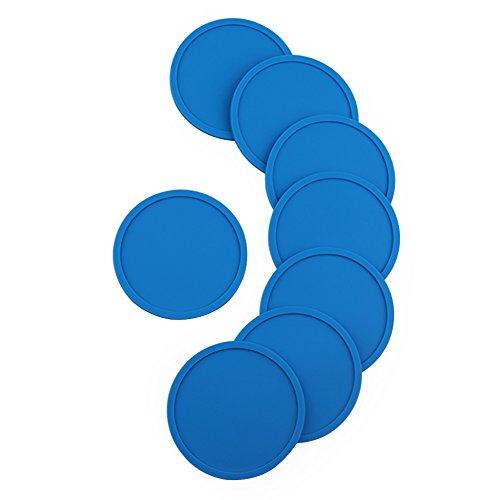 ANPI Silicone Coasters Set of 8, Non-Slip Durable