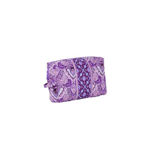 Эмили Фиолетовый Предназначен Путешествия косметический мешок - 100% хлопок с нейлоном Подкладка Макияж Дело