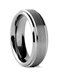 Metal Masters Co.® Tungsten Carbide Men's / Unisex Wedding Band Ring, Comfort fit 6MM Sizes 5 to 15