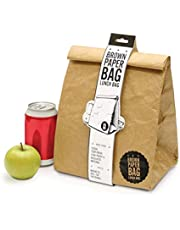 Luckies of London LUD9W Insulated Bag – Reusable Waterproof Tear, Leak Resistant, Spill Proof Thermal Cooler Lunch Box, Brown