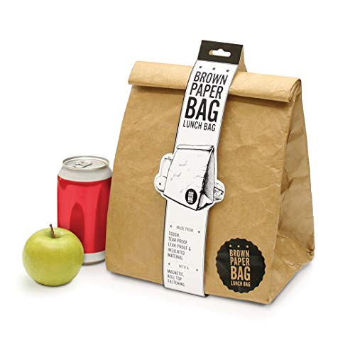 Luckies of London LUD9W Brown Paper Bag Insulated Reusable Waterproof Thermal Cooler Lunch Box, ()