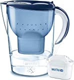 BRITA Marella XL Water Filter, Compatible with BRITA MAXTRA+ Cartridges, Water Filter That Helps with The Reduction of Limescale and Chlorine, Blue