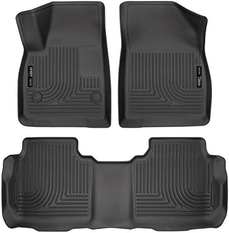 Husky Liners Fits 2017-19 Cadillac XT5, 2017-19 GMC Acadia, 2019 Chevrolet Blazer Weatherbeater Front & 2nd Seat Floor Mats