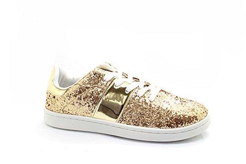 Gold American Sneaker Gold Dog Wear Street Glitter Inspired Women wppFr8xX