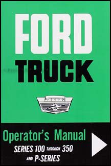 1964 Ford F100-250-350 Pickup Owner's - Ford Manual 1964 Owners
