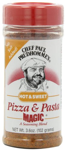 Magic Seasoning Blends Hot and Sweet Pizza and Pasta Magic, 3.6-Ounce Bottles (Pack of 6) by Chef Paul Prudhomme's Magic Seasoning Blends
