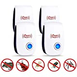 Doraubia Ultrasonic Pest Repeller & Mouse Repellent Plug in Pest Control - Insect Repellent & Bug Repellent for Mosquito,Mice,Rat,Bedbug,Roach,Ant,Fly,Flea,Spider - No More Trap,Spray & Bait (4 Pack)