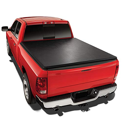 Tri-Fold Soft Top Trunk Tonneau Cover for Ford Ranger Flareside 6Ft Short Bed 93-04 ()