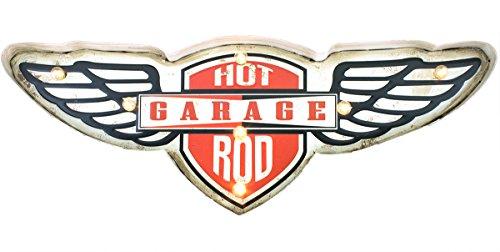 Ganz LED Light Up Hot Rod Garage Metal 3D Sign ()