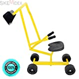 SKEMiDEX---New Heavy Duty Kid Ride-on Sand Digger Digging Scooper Excavator for Sand Toy. Rubber handle for easy control A perfect toy for your children when playing with the beach