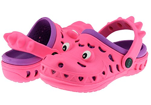 Capelli New York Later Gator Clog Toddler Girls Clog Purple 6/7