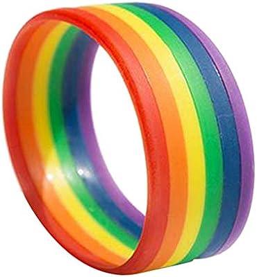 Amosfun Pulsera LGBT Rainbow Pride Pulseras de Silicona Pulsera ...