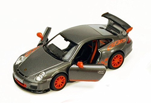 2010 Porsche 911 GT3 RS, Gray - Kinsmart 5352D - 1/36 scale Diecast Model Toy Car (Model Gray Porsche)