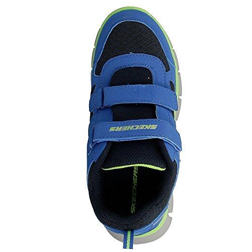 NUOVO MINORE RAGAZZI/bambini Blu Skechers Vim Lil Thrill Scarpe sportive - ELETTRICO/Giallo - NUMERI UK 4-9