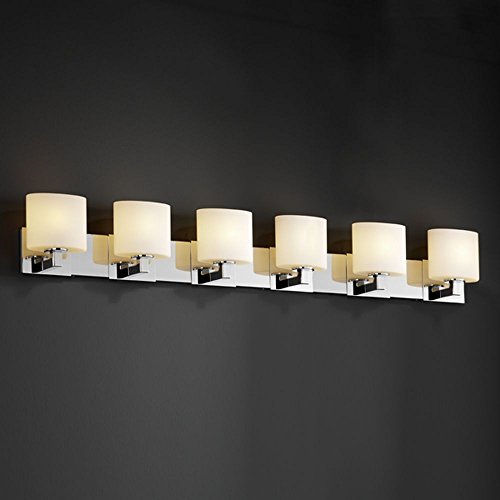 Justice Design Group FSN-8926-40-MROR-CROM Fusion Collection Modular 6-Light Bath Bar Crom 6 Light Fusion