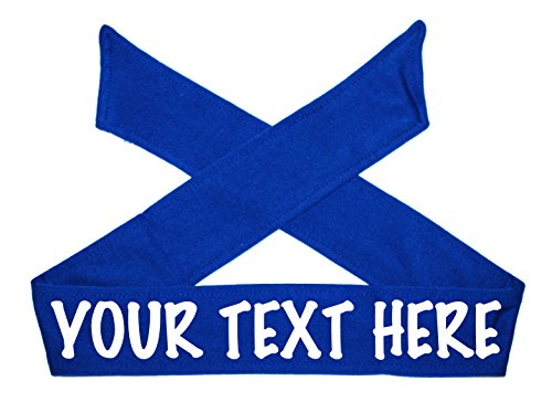 Design Your Own Custom Tie Headband - Glitter Letters (Royal - Size To Hat How Check