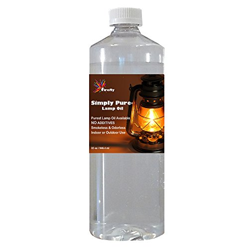 Firefly Candle and Lamp Oil - 32 oz - Smokeless & Odorless - Simply Pure - Ultra Clean Burning - Liquid Paraffin Fuel - Highest Purity Available (Color Lamp Oil)