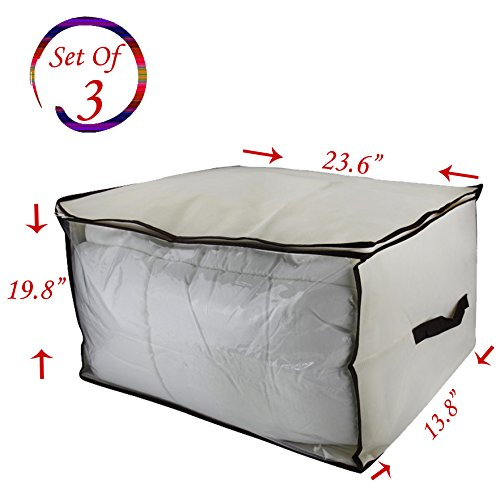 Breathable Storage Blanket Organizer See Through product image