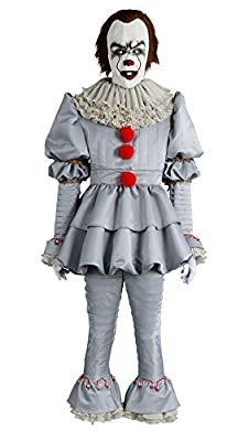 Fancycloth Halloween Clown Cosplay Costume Stephen King Pennywise Outfit