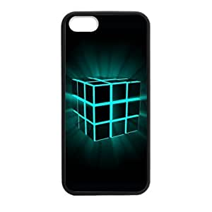 Colorful Rubik's Cube Art iPhone 5 5S Plastic and TPU Durable Phone Case Cover(Laser Technology)