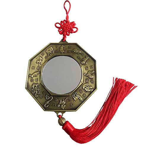 FengShuiGe New 12 Zodiac Large Size Chinese Feng Shui Bagua Mirror Total Length