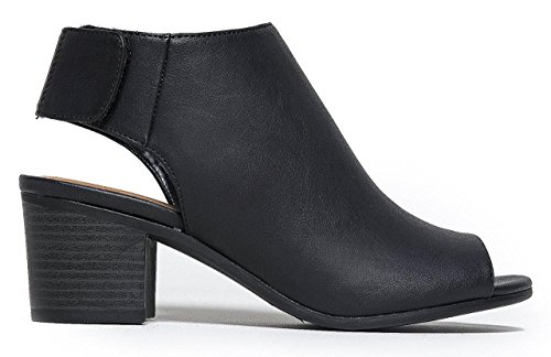 Marco Republic Athens Womens Peep Toe Chunky Block Stacked Heels Ankle Booties