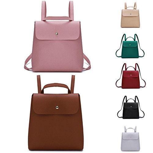 Fshion Bag Color Women Solid School Shoulder Backpack Girl Bag VJGOAL Leather Pure Red Mini TdA1qww7x