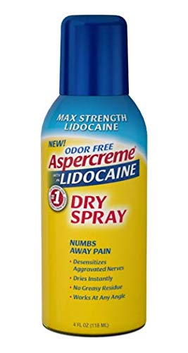 Aspercreme 4% Lidocaine Dry Spray, 4 Ounce (Pack of 2) - Spray Lidocaine