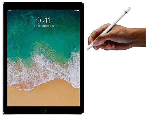 Apple iPad Pro 12.9-inch 256GB with Apple Pencil Bundle (Wi-Fi Only, Space Gray) Newest Version Mid 2017
